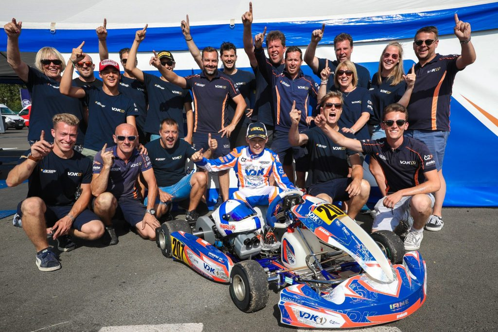 After the Worlds, the European Junior title for VDK Racing with Marcus Amand!