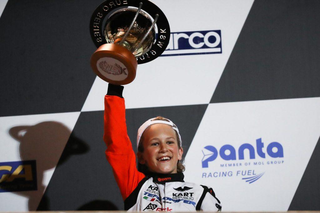 Douwe Dedecker: Sterke derde plaats comeback in de WSK Euro Series