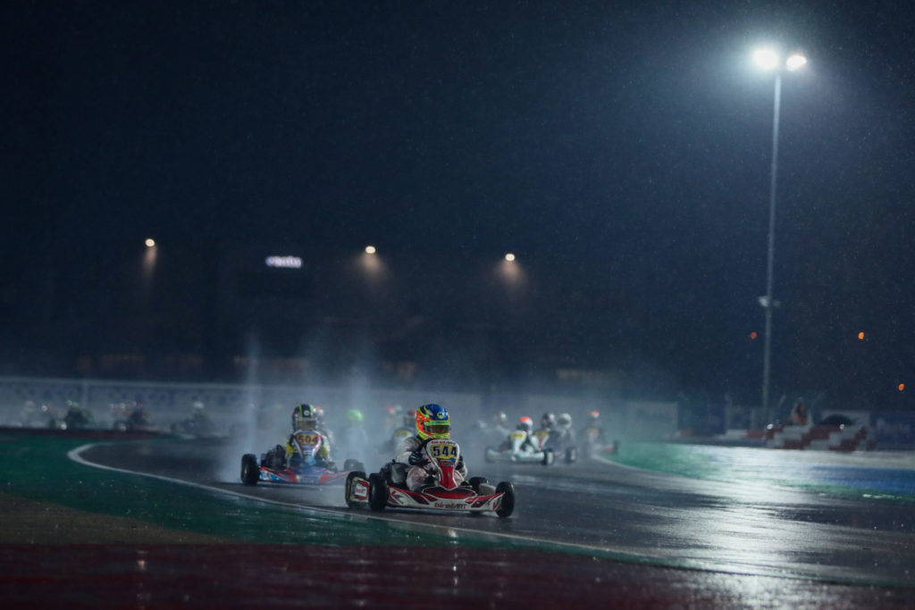 WSK Super Master Series Rnd 1 – Friday: Rain and cold mix up the cards in Adria