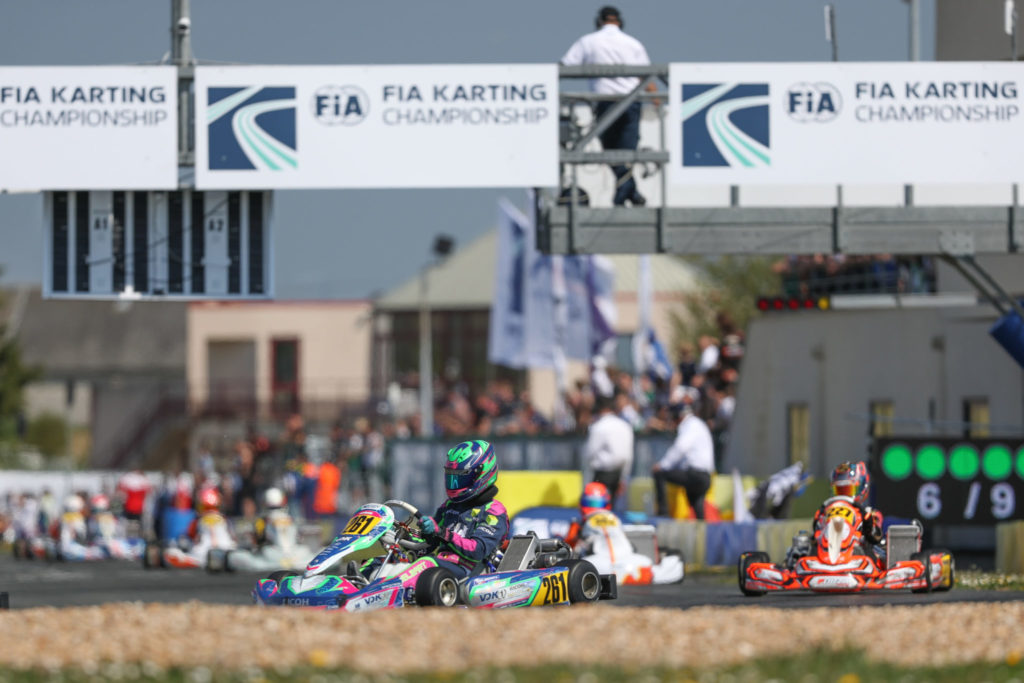 Loïs Delbart: Positive start at the FIA Karting European opening in Angerville
