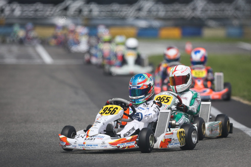 IAME Euro – Saturday: Macintyre, Bearman and Ravenscroft provisional leaders at 7 Laghi