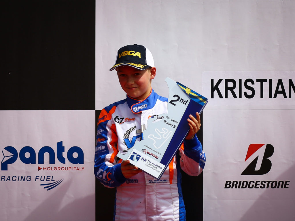 VDK Racing: Marcus Amand 2nd in Sweden and leader of the European Junior Championship!