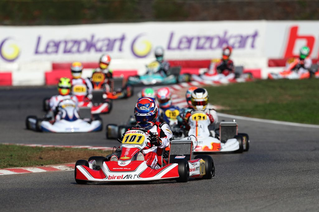 WSK Open Cup Round 1 – Saturday: Palomba, Smal, Antonelli in the lead, 60 Mini fight is on