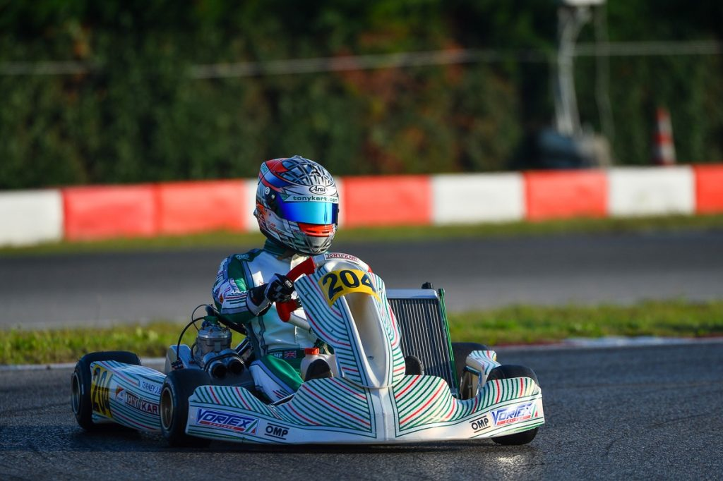 Tony Kart: Turney on the podium of the WSK Open Cup
