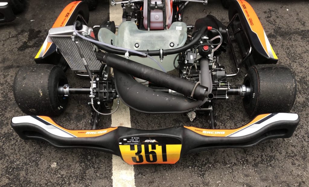 Rotax DD2 chassis with CIK-FIA homologated rear bumper for 2020 events
