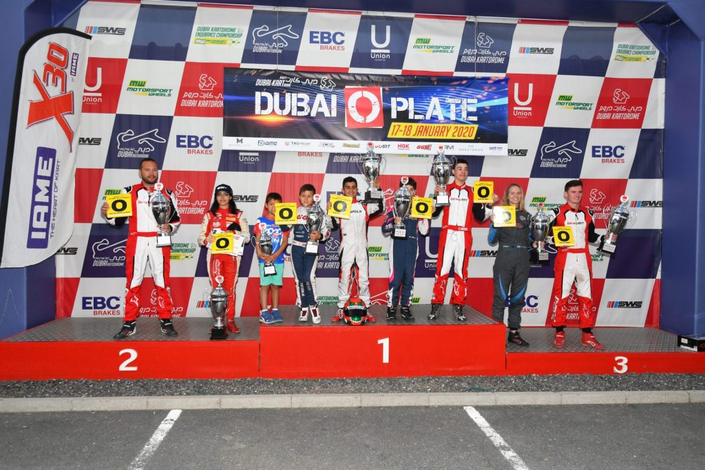 Dubai O Plate: Birel ART Middle East share honors with Al Qubaisi and Al Dhaheri