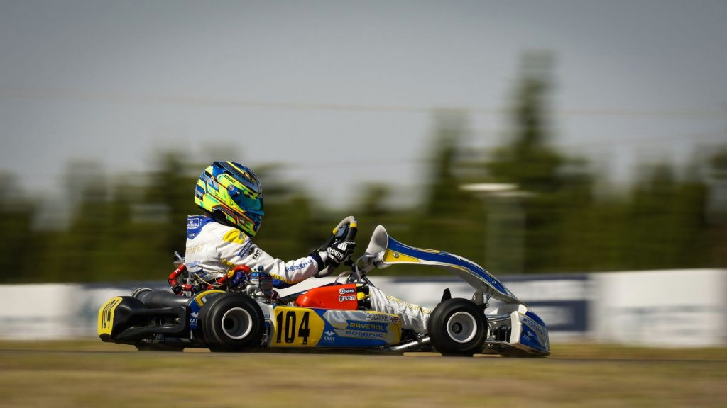 FIA Karting European Championship – OK/Junior Round 1 / Friday: Barnard and Rinicella on pole at Zuera!