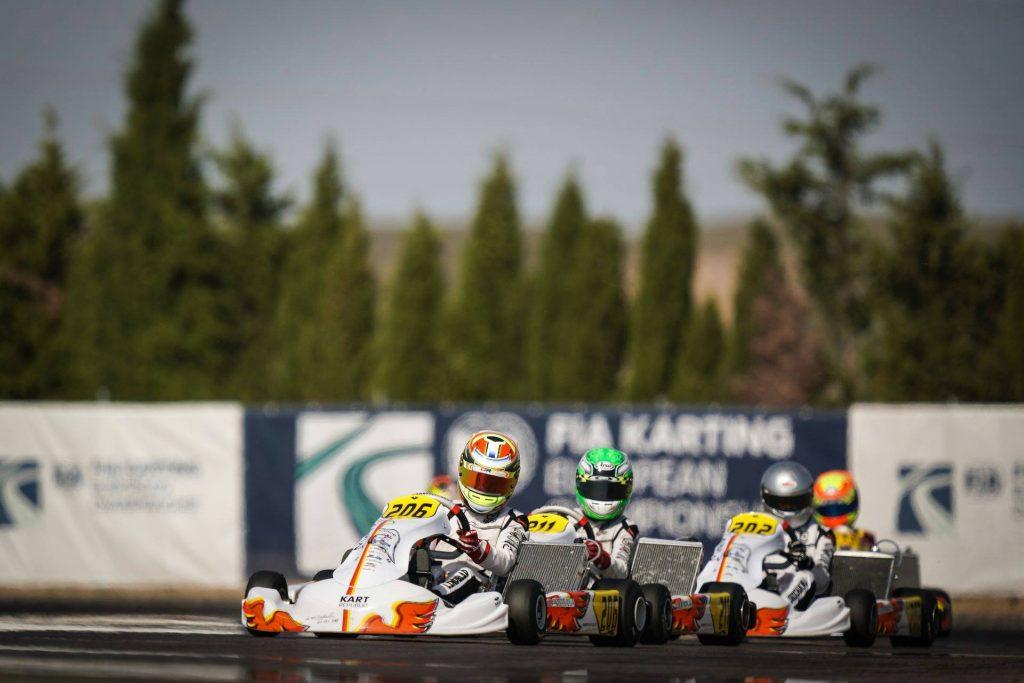 FIA Karting European Championship – OK/Junior Round 1 / Saturday: Barnard and Lindblad provisional leaders