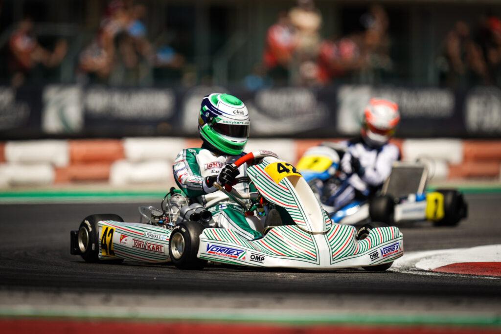 FIA Karting European Championship – KZ/KZ2/Academy Round 1 / Saturday: Puhakka dominates in KZ, close-fought battles in Academy and KZ2