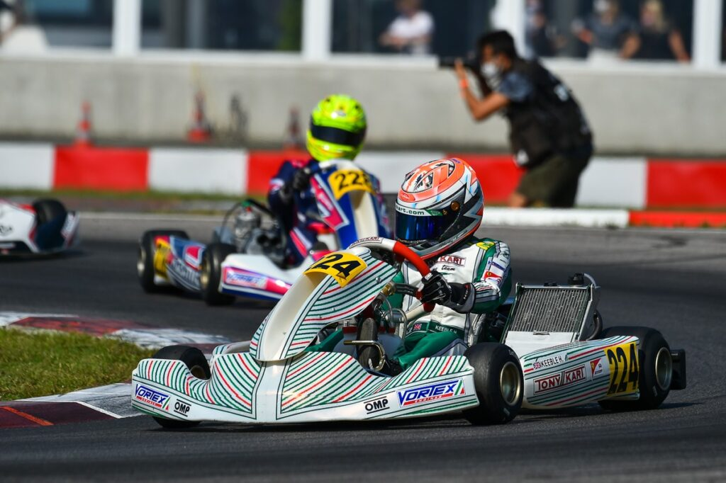 Tony Kart: Keeble on the podium in Germany