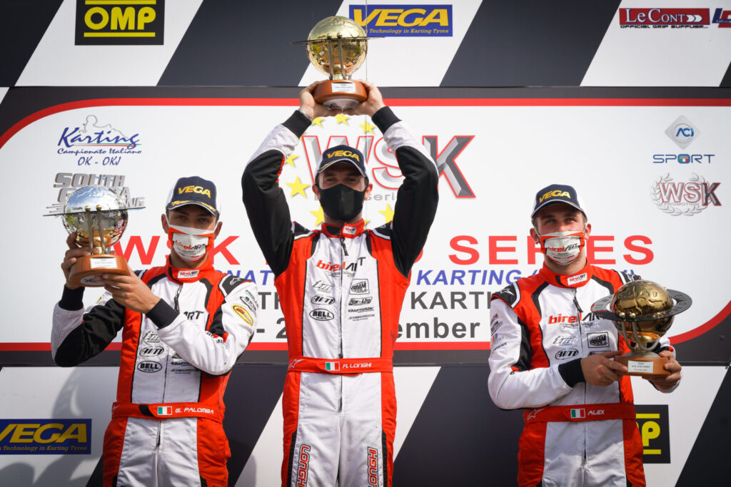 Birel ART: Five podiums at Lonato and a hat-trick in WSK Euro Series