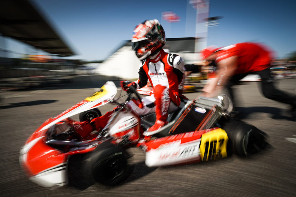 Birel ART: Morgatto, competitive and top-8 in Wackersdorf