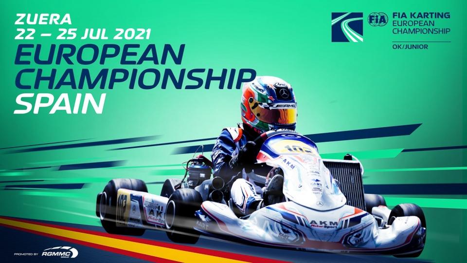 FIA Karting European Championship-OK/Junior Round 4: First season titles to be awarded at Zuera