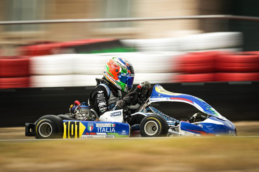 FIA Karting European Championship-OK/Junior Round 4: Sorensen & Antonelli dominate Qualifying in Zuera